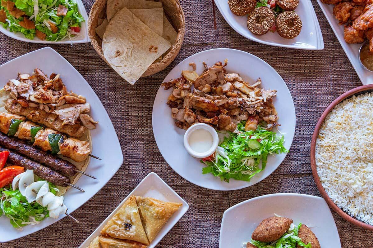 Shawarma de pollo, Mixto de carnes y vegetales