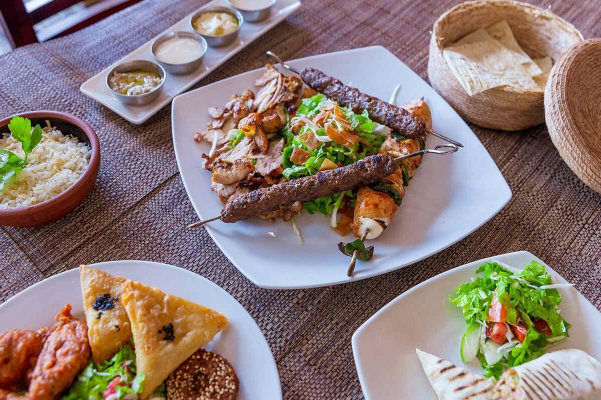 Shish Taouk, Kabab and Chicken Shawarma (for 2)