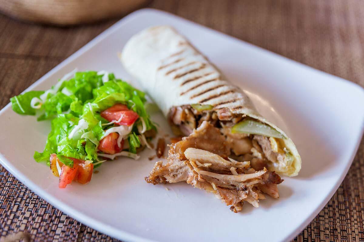 1/2 Shawarma sandwich